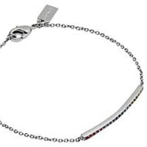 Coach Silver Rainbow Bar Bracelet NWT